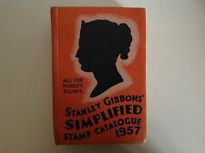 VINTAGE STANLEY GIBBONS SIMPLIFIED STAMP CATALOGUE HARDBACK BOOK 1957