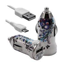 Chargeur Voiture Allume Cigare USB avec Câble Data avec HF01 pour Nokia : Asha