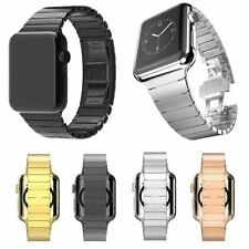 Butterfly Buckle Metal Stainless Steel Watch Band for Apple Watch Series 5/4/3/2