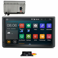 "7"" Double 2Din Android 4.4 Car DVD Player GPS Radio Wifi 3G BT OBD Stereo+Camera"