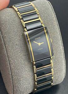 Rado DiaStar Black & Gold Ceramic Quartz Swiss Watch Unisex 153.0283.3N