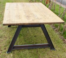 Rustic Industrial 6ft Reclaimed Wood - Metal A Frame Dining Table Steampunk