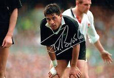 Zinzan BROOKE Signed Autograph New Zealand All Blacks RUGBY Photo C AFTAL COA