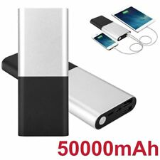 Portable 50000mAh External Battery Backup Rechargeable Power Bank For Cell Phone