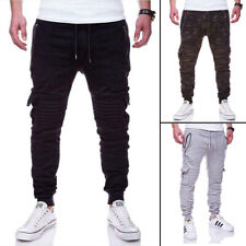 Men Casual Joggers Pants Sweatpants Cargo Combat Active Sports Slim-Fit Trousers