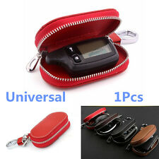 Universal PU Leather Fashion Car Auto SUV Smart Remote Key Holder Bags Cases Red