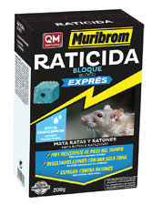 Muribrom Veneno en Bloque Exprés Raticida de Alta Efectividad - 200 gr