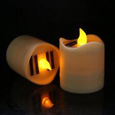 Solar Powered LED Candle Light Yellow Flicker Tea Lamp Festival Wedding Decors