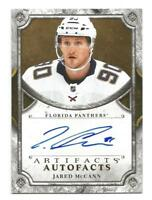 18-19 UD Artifacts Jared McCann Autofacts Auto #A-JM FLORIDA PANTHERS