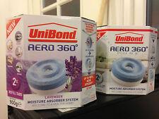 Unibond Aero 360 REFILLS Dehumidifier Moisture Absorbing  2 PURE + 2 Lavender