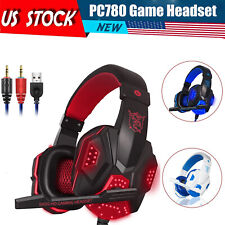 Gaming Headset Stereo Surround Headphones LED USB with Mic  For Xbox One/PS4 PC
