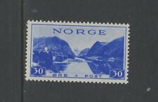 NORWAY 1938 TOURIST 30 ore BLUE Mounted Mint