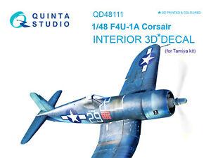 Quinta QD48111 1/48 F4U-1A Corsair 3D-Printed&coloured interior (for Tamiya kit)