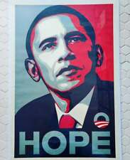 HOPE Obama campaign poster 2008, by Shepard Fairley