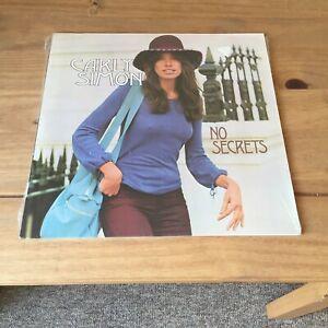 "CARLY SIMON - NO SECRETS (1973 GERMAN PRESSED 12"" VINYL ALBUM) ELEKTRA K 42127"