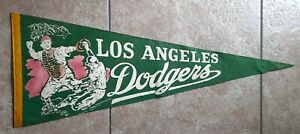1959 Los Angeles Dodgers Rare Multi Colored Felt Pennant Full Size