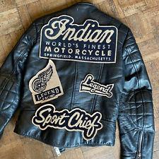 More details for indian motorcycle back patch original lee trevor vintage chief legend  jacket