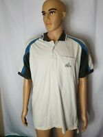 Rare Vintage Adidas Golf Polo Shirt Pocket Mens Large White Blue S/S VTG