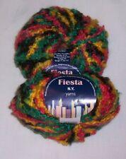 Lot Of 2 N.Y. Yarns Fiesta Boucle Yarn - Color #6 - Very Colorful - Same Dye Lot