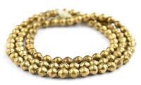 Ethiopian Brass Bicone Beads 8x7mm African Large Hole 30 Inch Strand Handmade