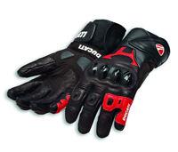 DUCATI Alpinestars SPEED AIR C1 Racing Leder Handschuhe Gloves schwarz rot NEU
