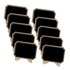 10pcs Tabletop Wooden Blackboard Chalkboard Wedding Party Name Number Tags