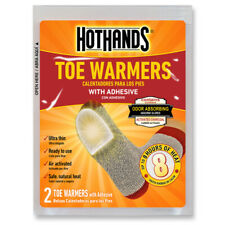 HOTHANDS TOE WARMERS 2PK 8HRS OF HEAT HOT PACK POCKET TRAVEL HEATER PORTABLE