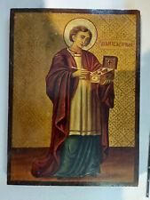 Antique Greek Byzantine Icon Saint Pantaleon Hand painted