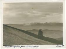 Allemagne, Bavière, Vue des crêtes, 31 octobre 1928, vintage silver print Vintag