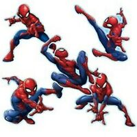 Spiderman Stickers x 5  Spider-man Shaped Stickers - Birthday Party Favours Loot
