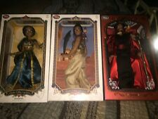 Disney Store Aladdin Jasmine And Jafar Limited Edition 3 Doll Set New