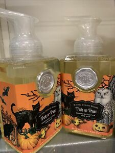 New Sealed x2 Michel Design Works Trick or Treat Foaming Hand Soaps 17.8 Oz Each