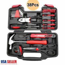 38 Piece Home Tool Kit Household Tool Kit Basic Hand Tool Set Starter With Box
