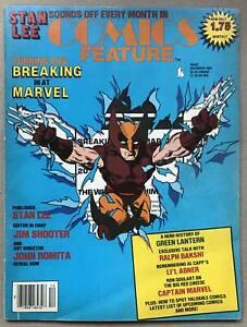 COMICS FEATURE MAGAZINE (DECEMBER 1985) WOLVERINE / STAN LEE / JOHN ROMITA