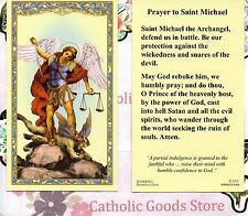 St. Michael the Archangel with Prayer to Saint Michael  - Paperstock Holy Card