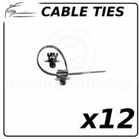 Plastic Cable Ties with Anchoring Compatible with all Vehicles 9649 Pack of 12