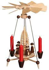 Pyramide mit Kurrendefiguren 26cm NEU Erzgebirge Stabpyramide Original Kerzen