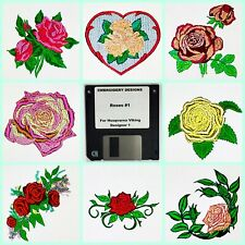 Roses #1 Embroidery Designs Disk for Husqvarna Viking  Designer 1