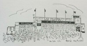 Ace Café ¦ Original pen-and-ink drawing by Sharon Crawford