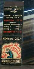 Vintage Early Midget Matchbook Cover X3 New York Albany Aladdin Magic Show Clean