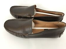 Umi Metro Moc Toe Mens Brown Leather Loafers Slip On Sz 9