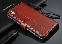 SALE Deluxe PU Leather Wallet Case Folio Flip Cover For HTC Desire 816 USA