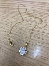 Delicate Gold Plated Sterling Silver 925 Diamond Imitation Necklace (005)