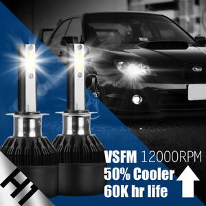 XENTEC 2x H1 LED Headlight Bulb Kit for Nissan Altima Maxima Low Beam Lamp 6000K