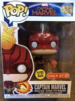 Captain marvel glow in the dark flying Funko pop 433 Target Exclusive In UK