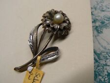 Flowers/Plants Silver Vintage Costume Brooches/Pins