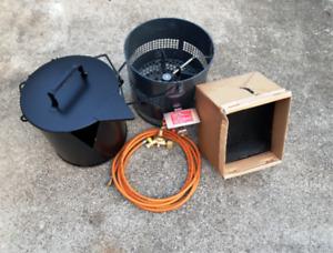 Bitumenkocher,Teerkocher 11 kW Kabelbau Straßenbau Landschaftsbau Vergußmasse