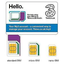 Three Mobile Pay As You Go Mobile Broadband 3 GB Sim Card