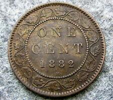 CANADA QUEEN VICTORIA 1882 CENT, BRONZE HIGH GRADE PATINA