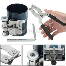 Piston Ring Compressor w/ Caliper Ratchet Pliers Expander Engine Tool Kit Set